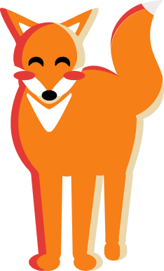 Fox standing in grass.